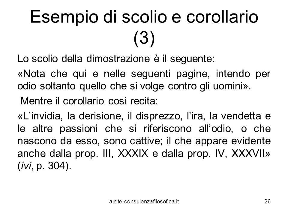 Esempio di scolio e corollario (3)
