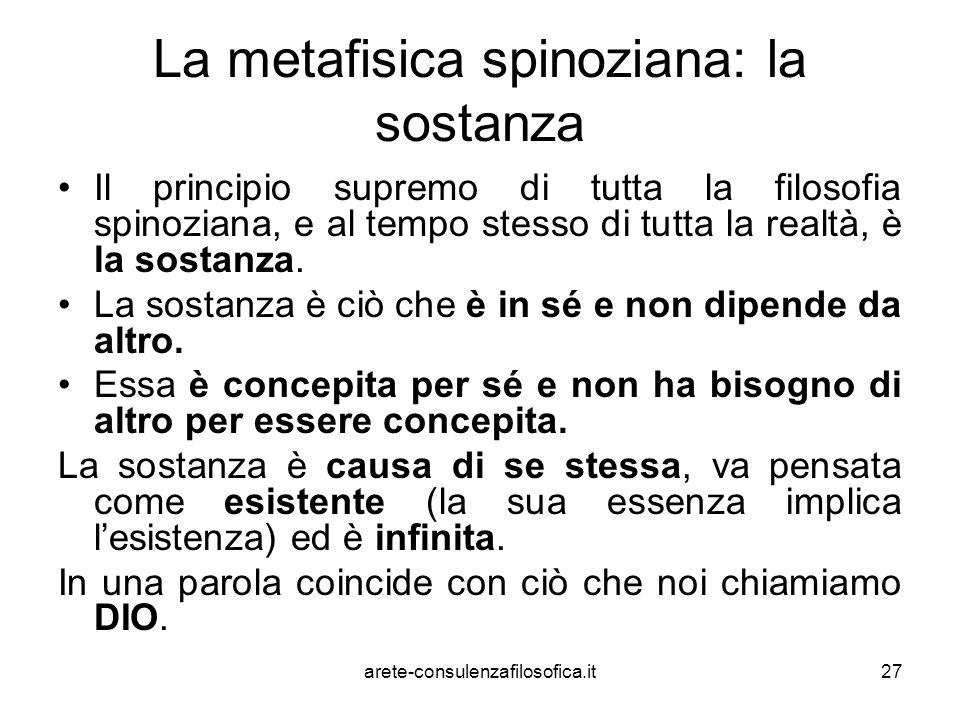La metafisica spinoziana: la sostanza