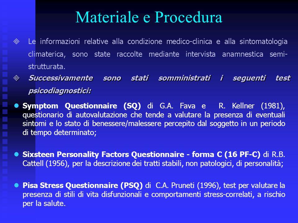 Materiale e Procedura