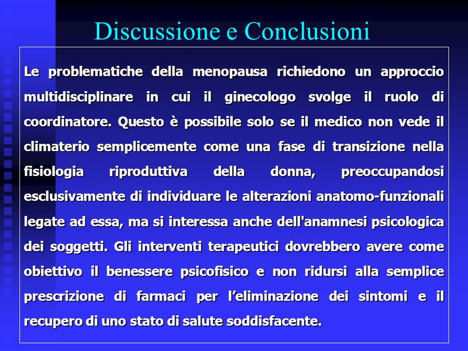 Discussione e Conclusioni