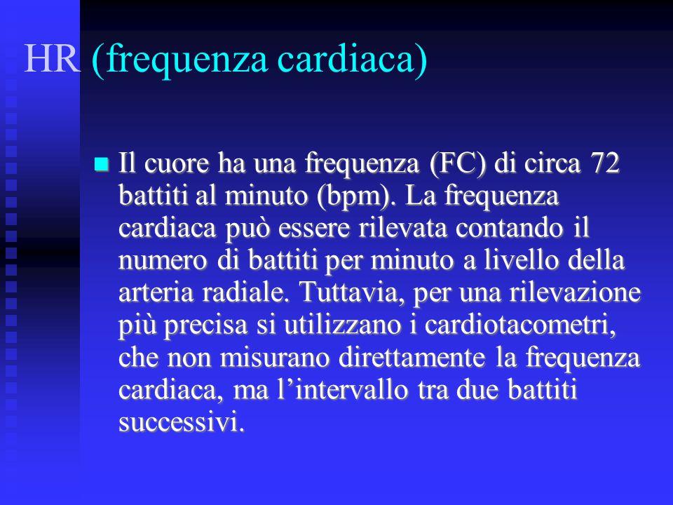 HR (frequenza cardiaca)
