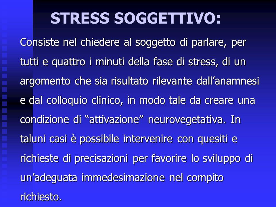 STRESS SOGGETTIVO: