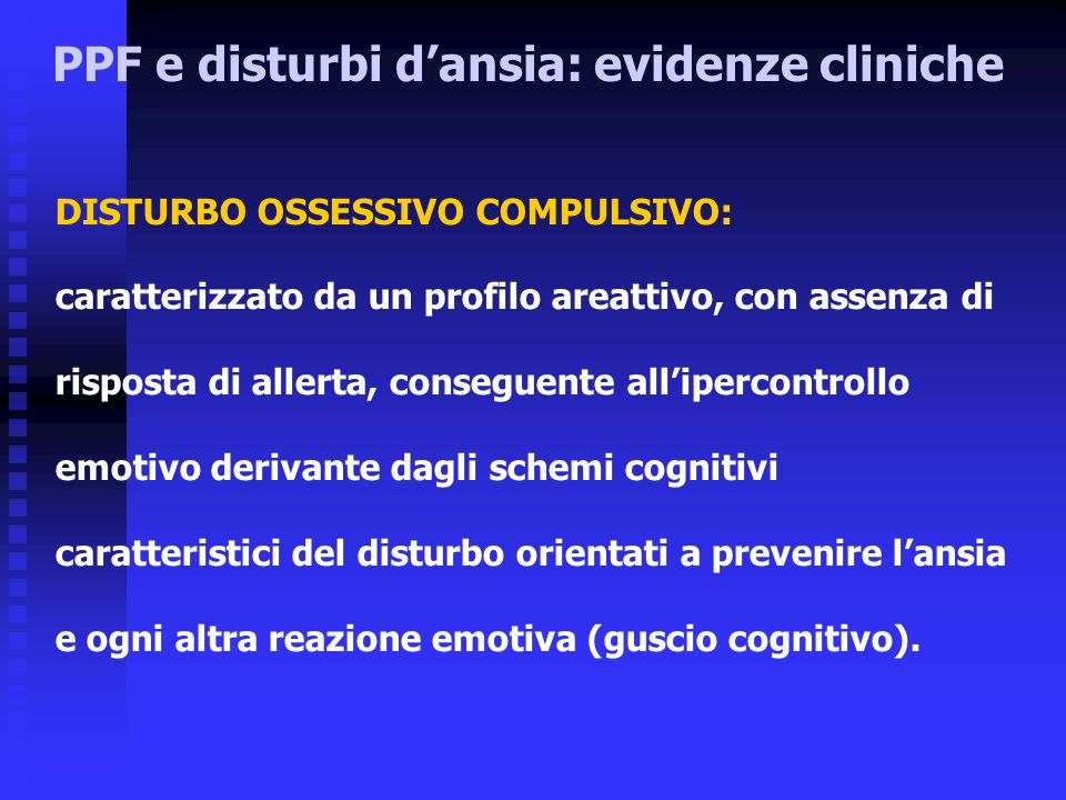 PPF e disturbi d'ansia: evidenze cliniche