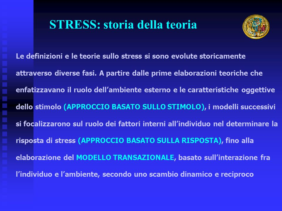 STRESS: storia della teoria