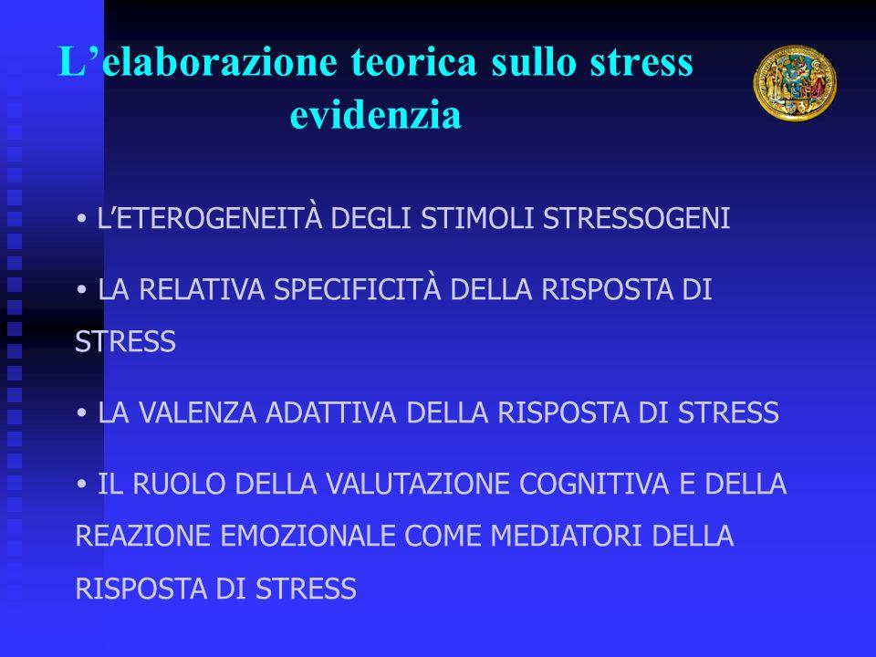 L'elaborazione teorica sullo stress evidenzia