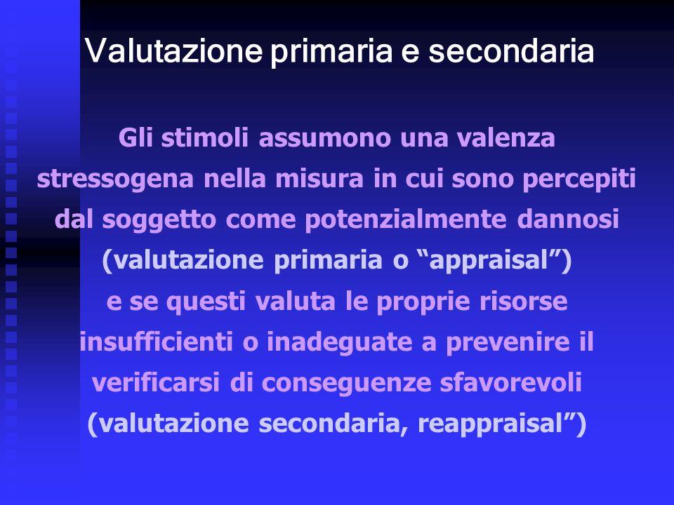 Valutazione primaria e secondaria