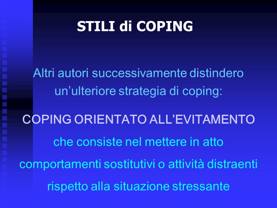 COPING ORIENTATO ALL'EVITAMENTO