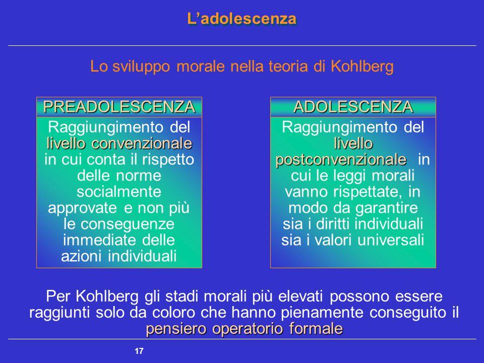 Lo sviluppo morale nella teoria di Kohlberg