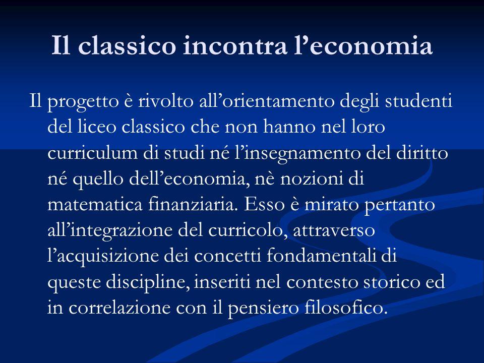 Il classico incontra l'economia