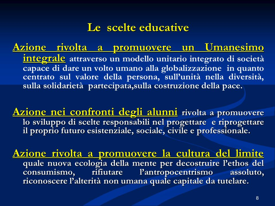 Le scelte educative