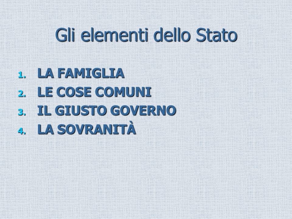 Gli elementi dello Stato