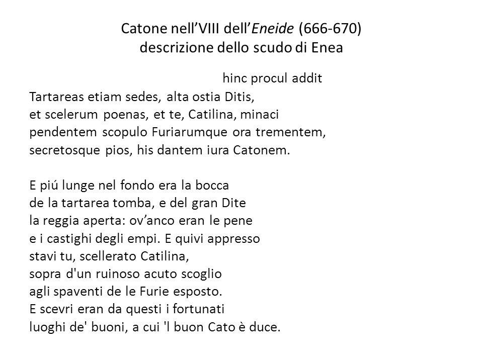 Catone nell'VIII dell'Eneide (666-670) descrizione dello scudo di Enea