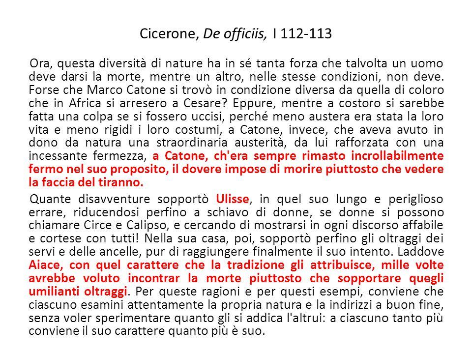Cicerone, De officiis, I 112-113