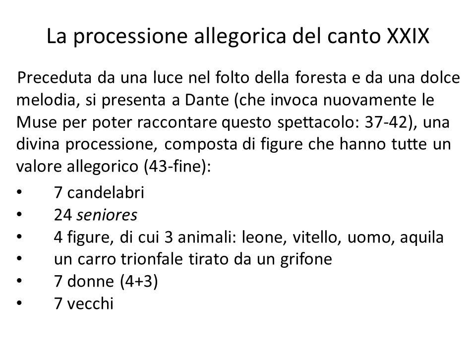 La processione allegorica del canto XXIX