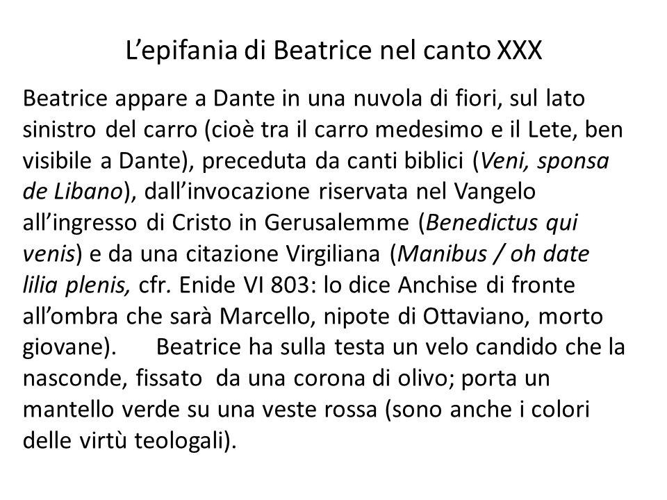 L'epifania di Beatrice nel canto XXX