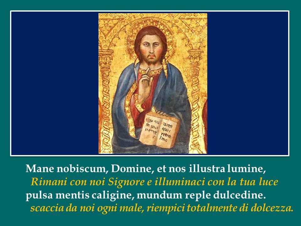 Mane nobiscum, Domine, et nos illustra lumine,