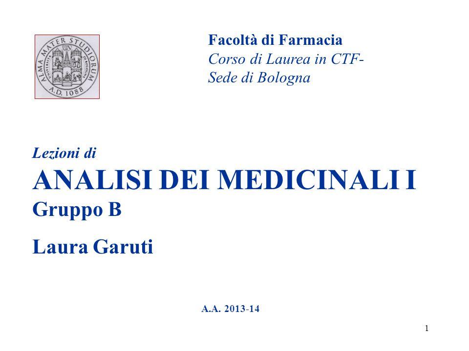 Laura Garuti Facoltà di Farmacia Corso di Laurea in CTF-