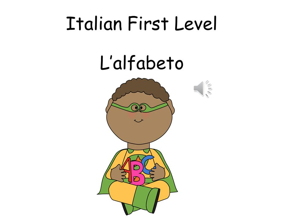 Italian First Level L'alfabeto
