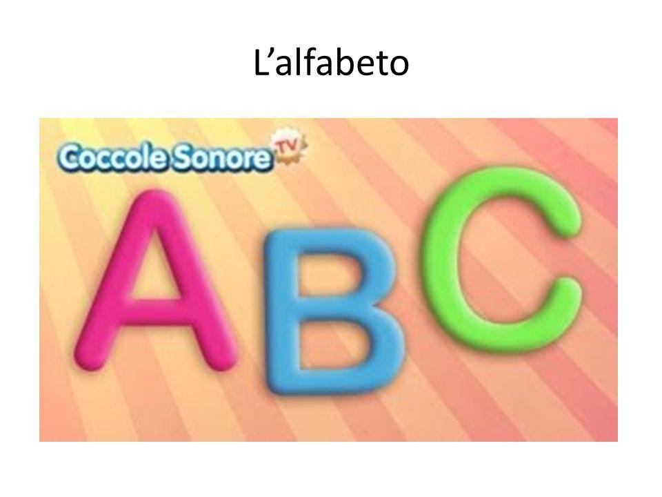 L'alfabeto http://youtu.be/VMdGbVWrifc