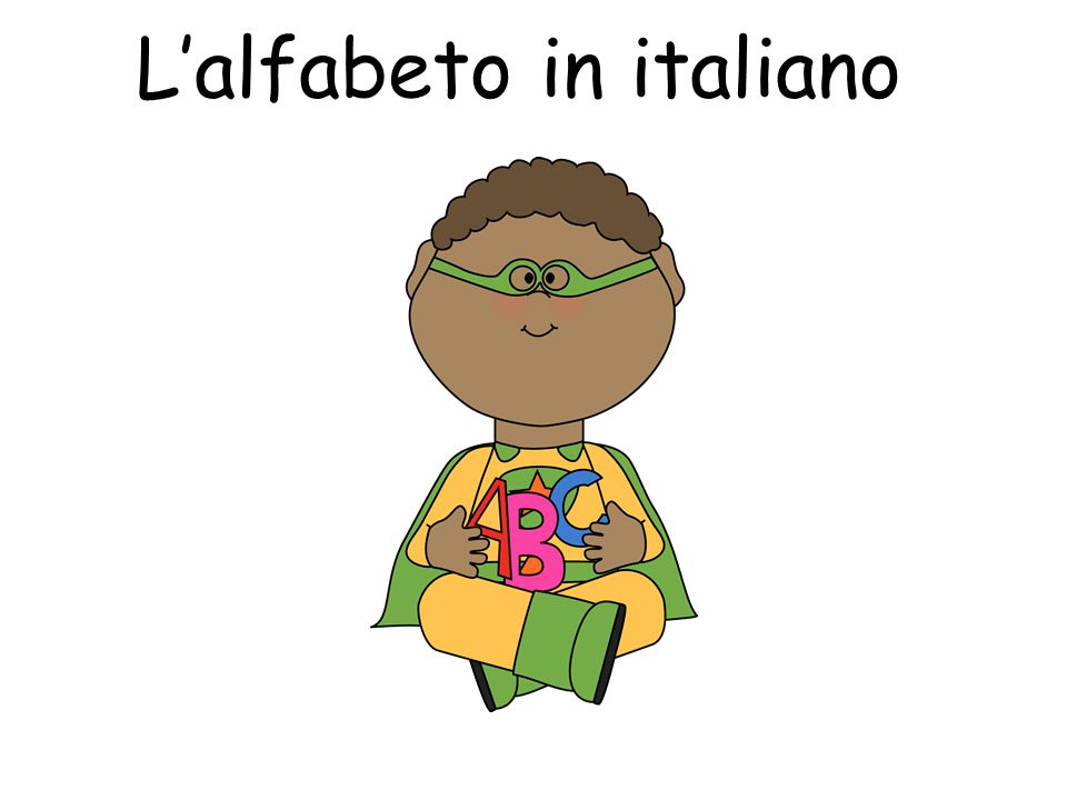 L'alfabeto in italiano