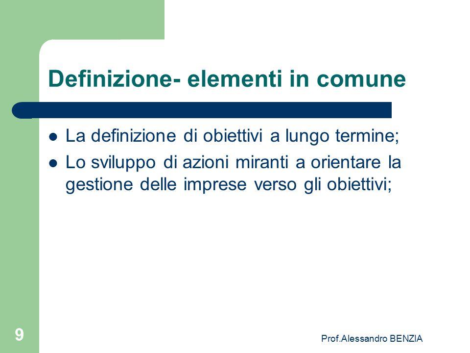 Definizione- elementi in comune