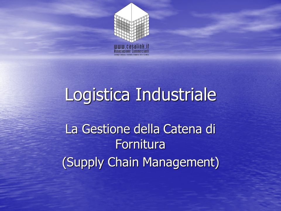 Logistica Industriale