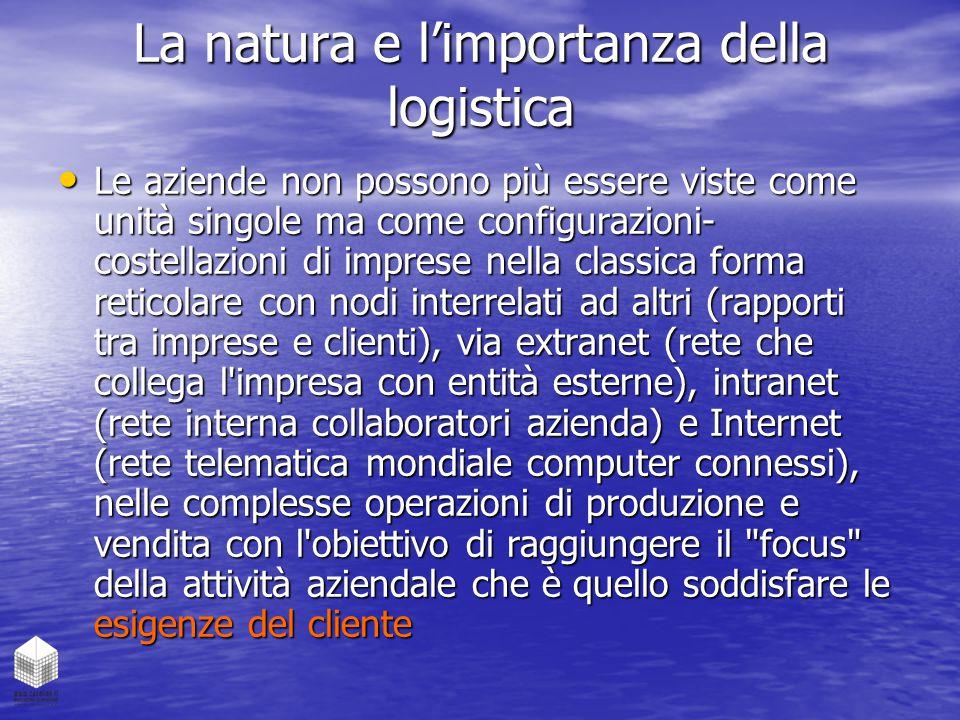La natura e l'importanza della logistica
