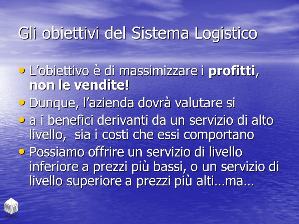 Gli obiettivi del Sistema Logistico