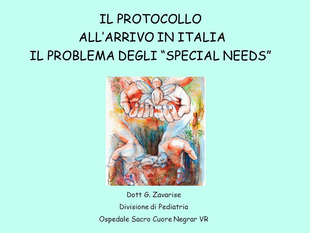 IL PROBLEMA DEGLI SPECIAL NEEDS