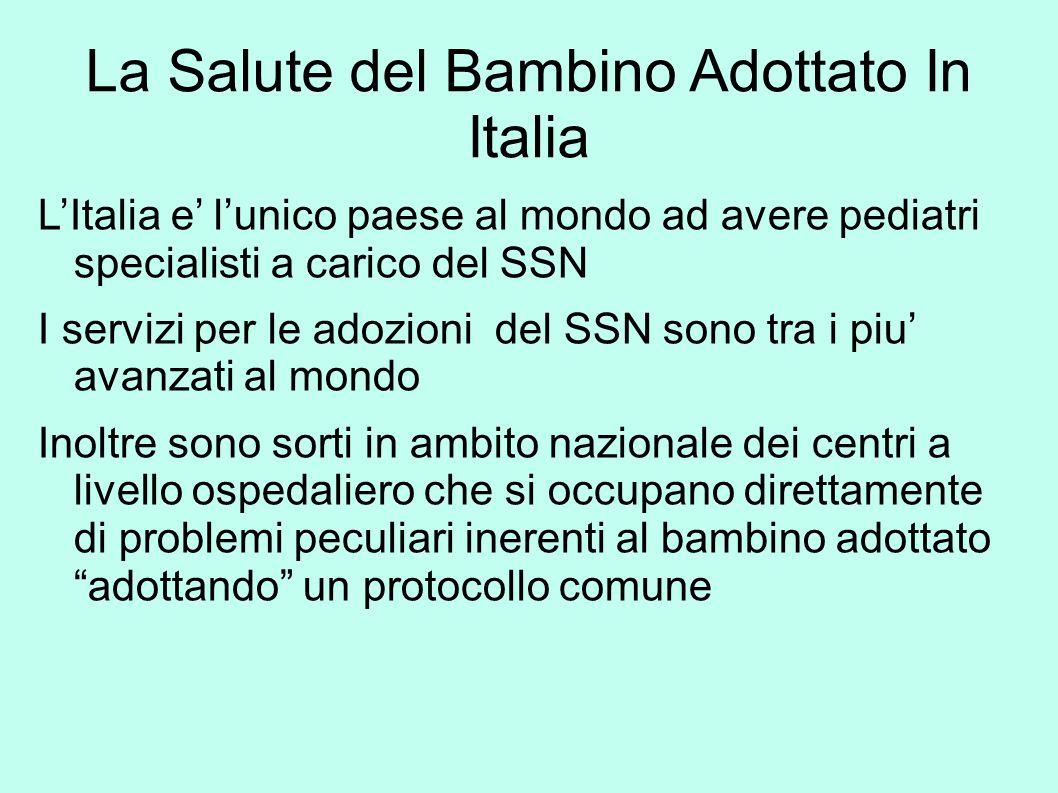La Salute del Bambino Adottato In Italia