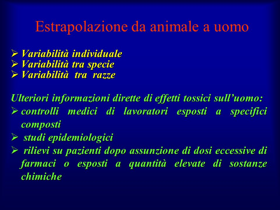 Estrapolazione da animale a uomo