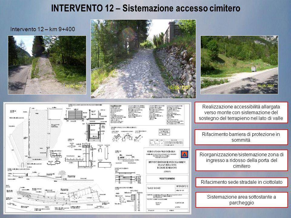 INTERVENTO 12 – Sistemazione accesso cimitero