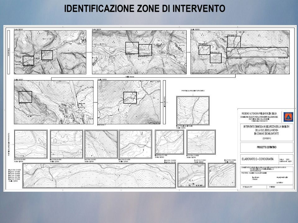 IDENTIFICAZIONE ZONE DI INTERVENTO