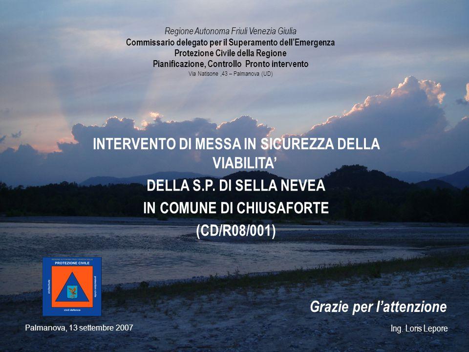 INTERVENTO DI MESSA IN SICUREZZA DELLA VIABILITA'