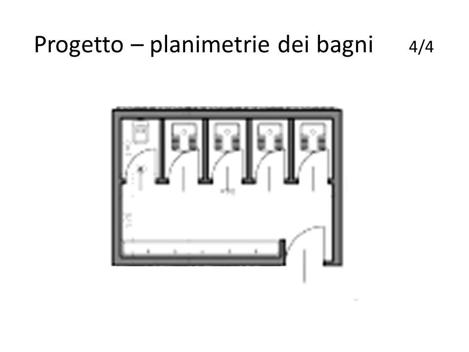 Progetto – planimetrie dei bagni 4/4