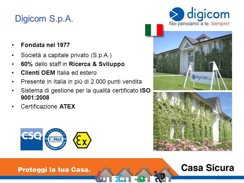 Digicom S.p.A. Fondata nel 1977 Società a capitale privato (S.p.A.)
