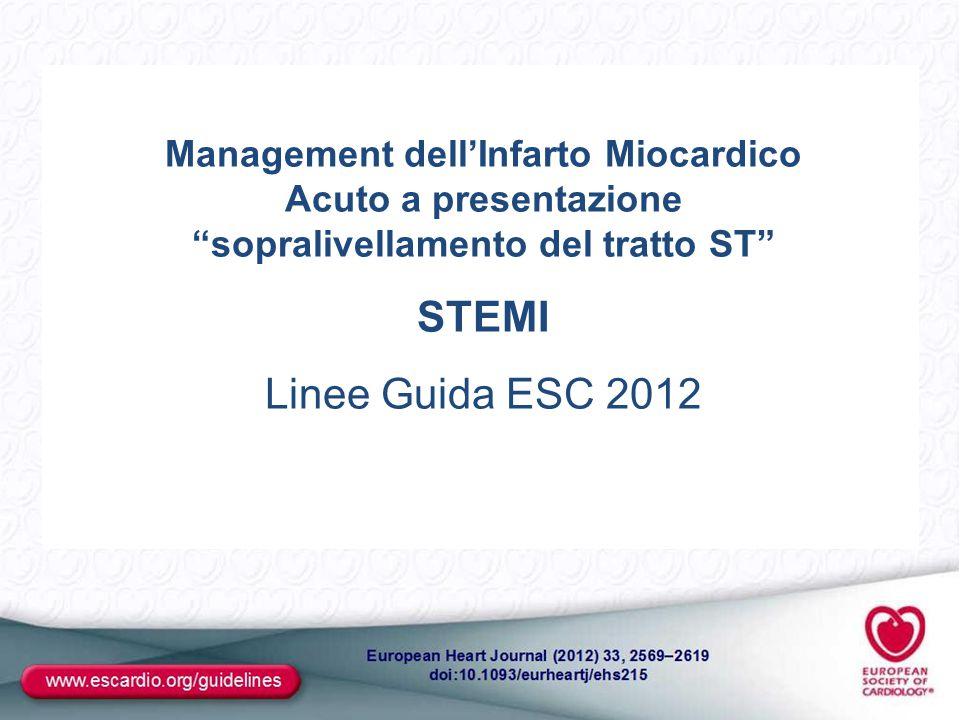 Management dell'Infarto Miocardico Acuto a presentazione sopralivellamento del tratto ST
