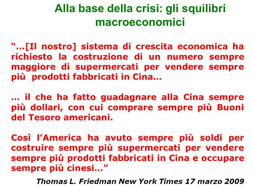 Alla base della crisi: gli squilibri macroeconomici