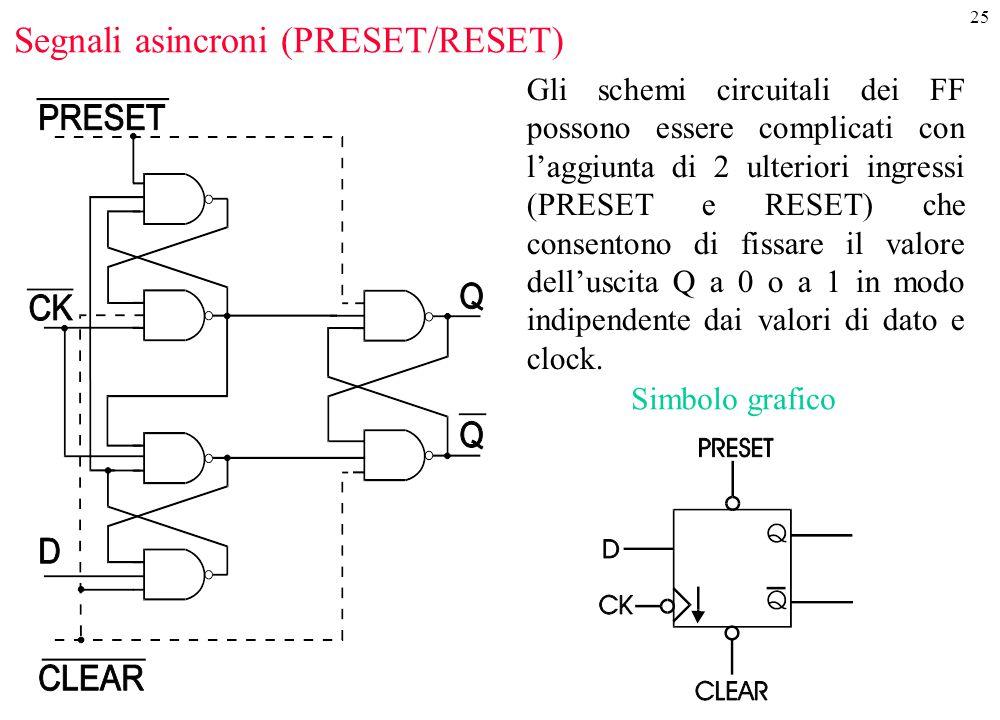 Segnali asincroni (PRESET/RESET)