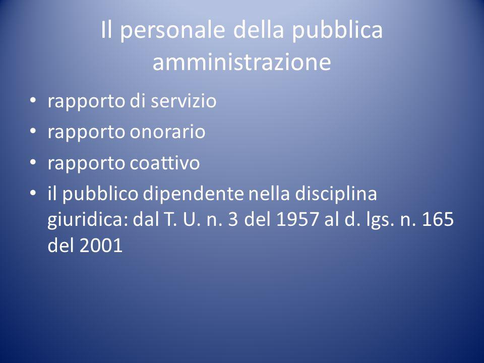 Il personale della pubblica amministrazione