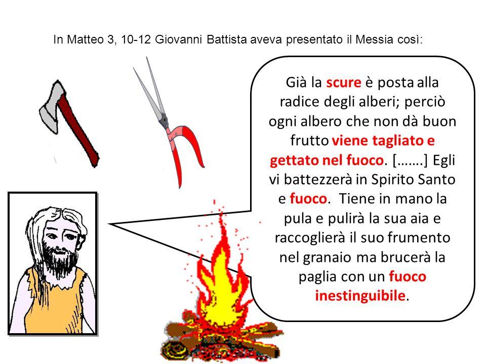 In Matteo 3, 10-12 Giovanni Battista aveva presentato il Messia così: