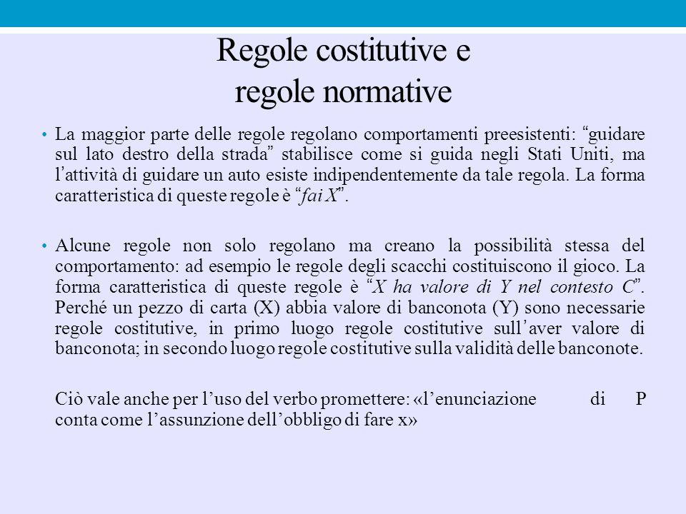 Regole costitutive e regole normative