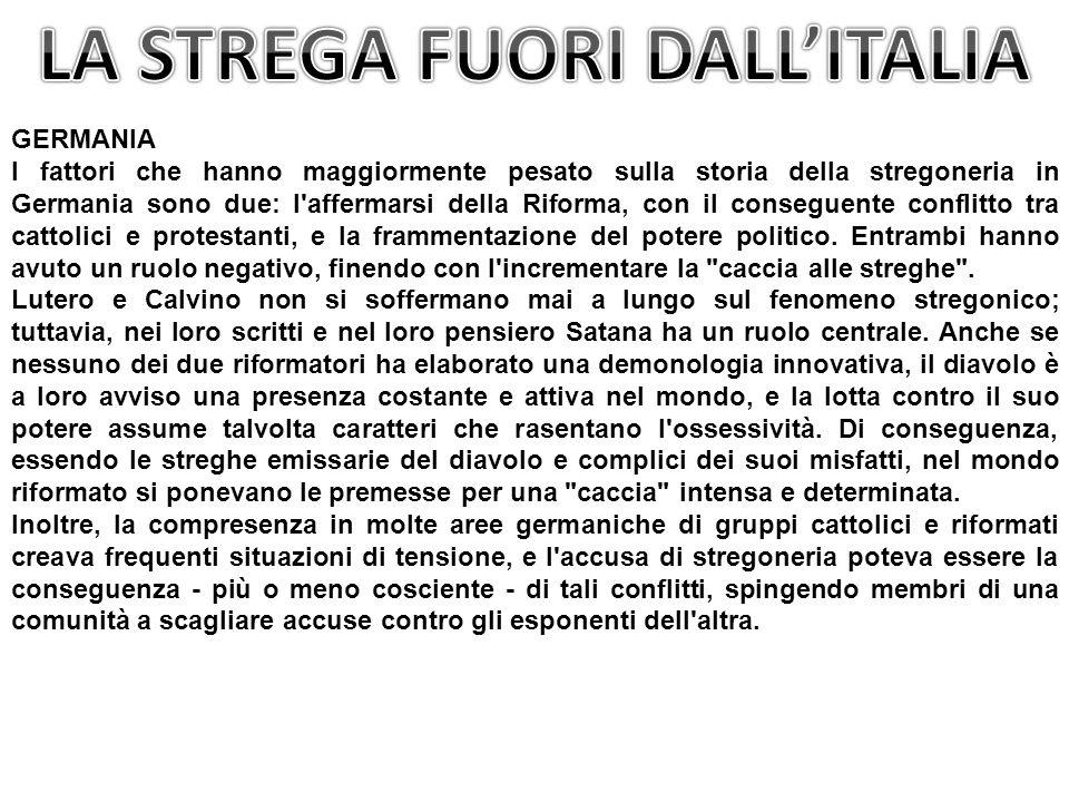 LA STREGA FUORI DALL'ITALIA
