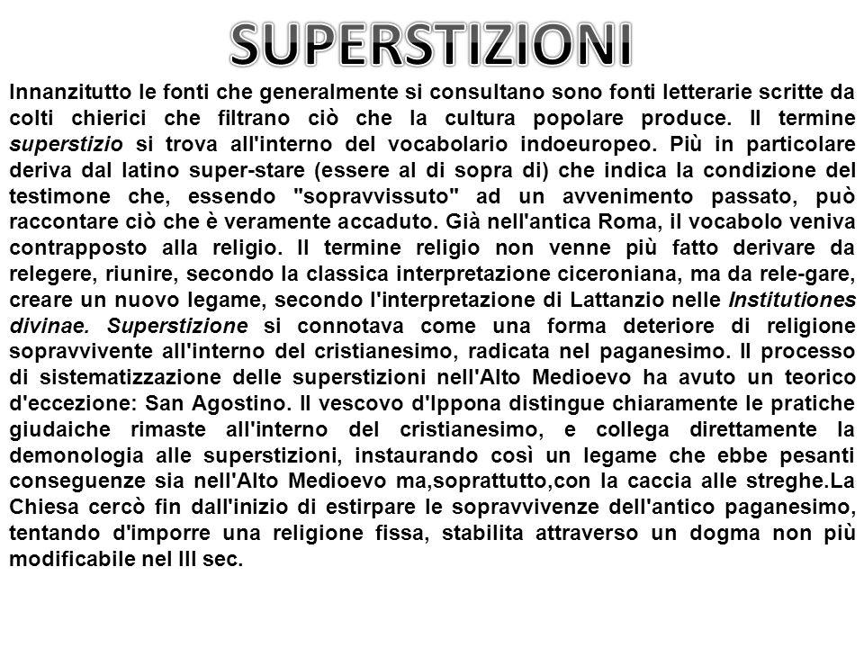 SUPERSTIZIONI