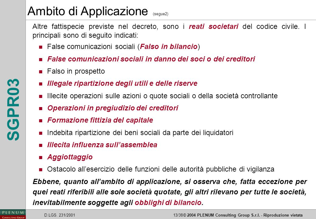 Ambito di Applicazione (segue2)