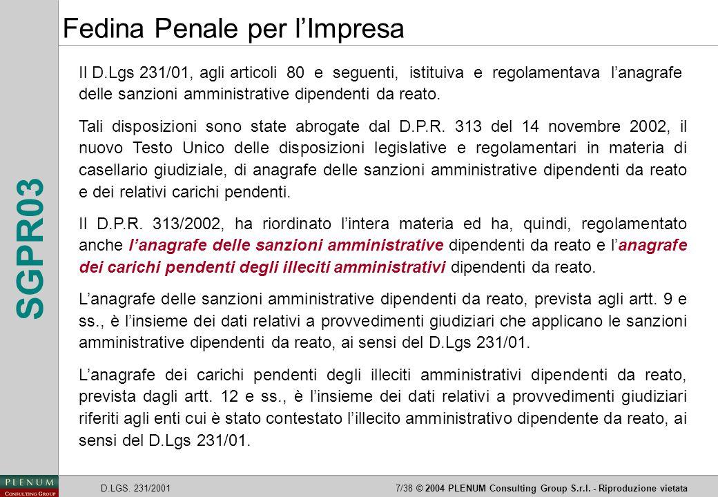 Fedina Penale per l'Impresa