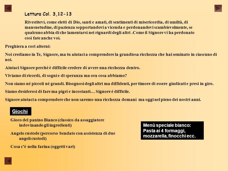 Lettura Col. 3,12-13