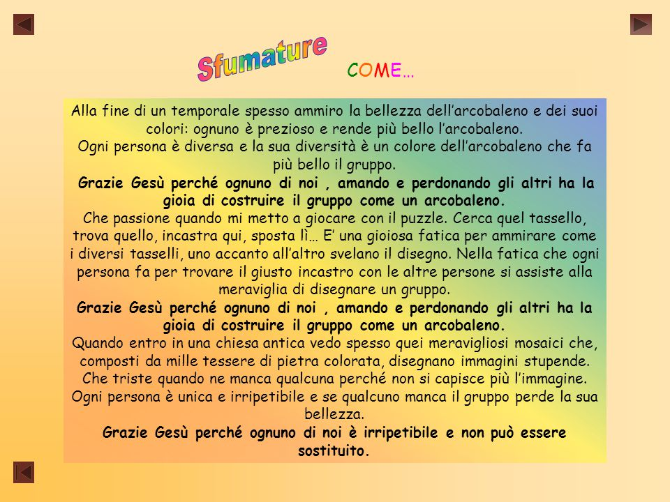 Sfumature COME…