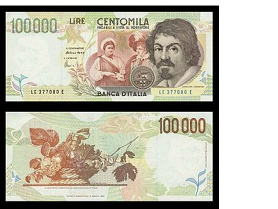 Il cesto di frutta è stato raffigurato sulla banconota da 1oo