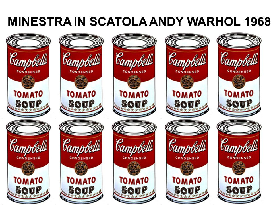 MINESTRA IN SCATOLA ANDY WARHOL 1968